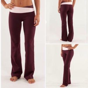 Lululemon burgundy pink Astro bootcut pants